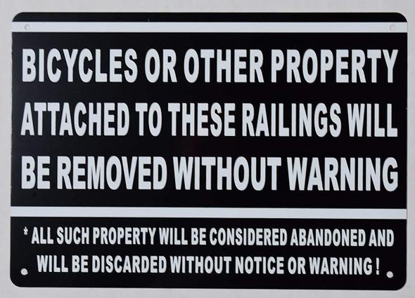 no bicycle  Signage