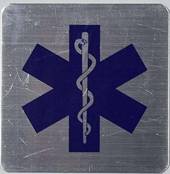 TWO 2 PCS Caduceus Snake Staff Medical Symbol sinage.
