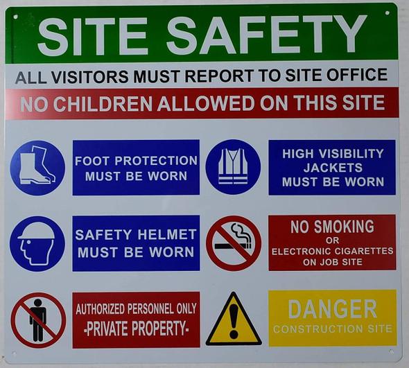 PPE  Signage - Site safety rule  Signage