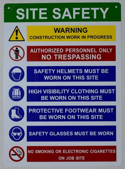 PPE  Signage - Site safety rule  Signage .