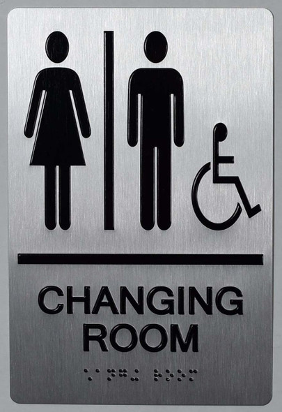 CHANGING ROOM ACCESSIBLE  Signage ADA