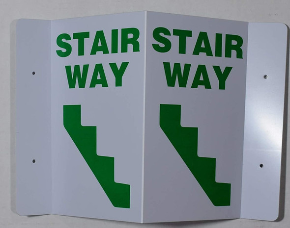 STAIRWAY 2D projection  Signages / 2d hallway  Signage is printed on both sides for easy viewing.