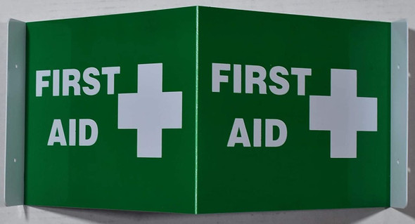 This First Aid 2D projection s / 2d hallway  is printed on both sides for easy viewing.