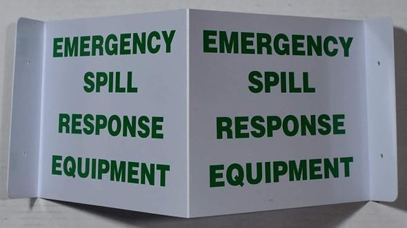 Emergency Spill Response Equipment 3D Projection  Signage/Emergency Spill Response Equipment Hallway  Signage