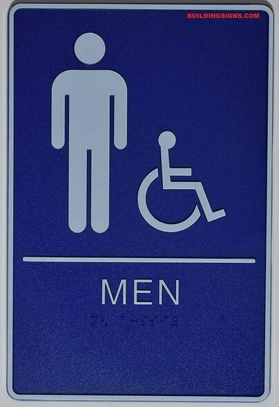 ADA Men Restroom  Signage.