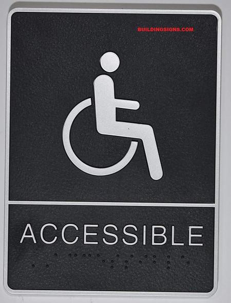 ADA accessable restroom  Signage