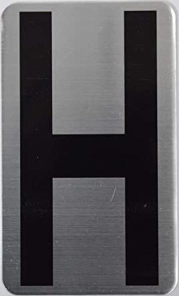 House Number Letter  Signage/Apartment Number Letter  Signage- Letter H
