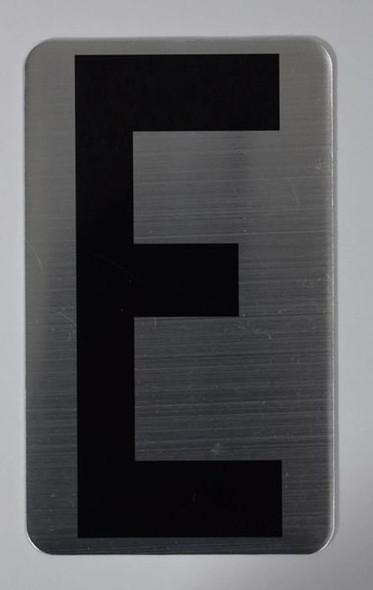 House Number Letter Sigpartment Number Letter - Letter E