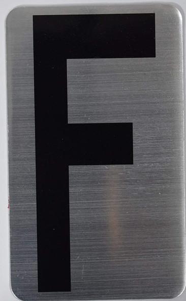 House Number Letter  Signage/Apartment Number Letter  Signage- Letter F