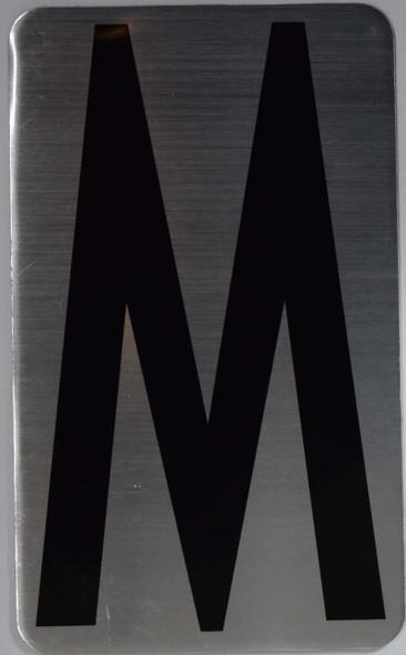 House Number Letter  Signage/Apartment Number Letter  Signage- Letter M