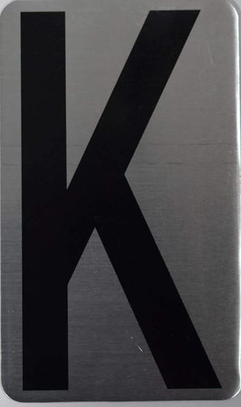 House Number Letter Sigpartment Number Letter - Letter K