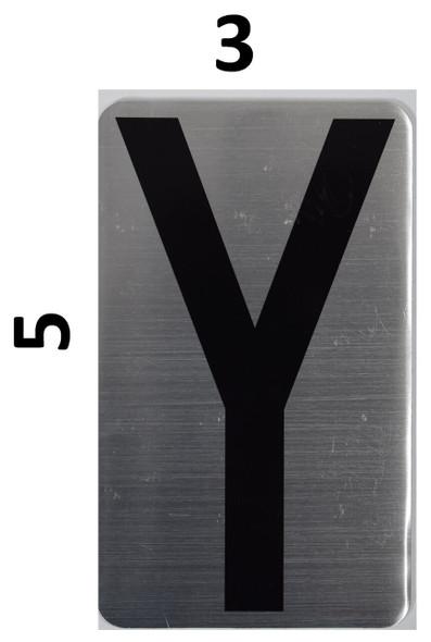 House Number Letter Sigpartment Number Letter - Letter Y