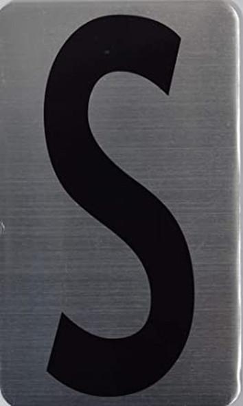 House Number Letter Sigpartment Number Letter sinage- Letter S