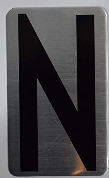 House Number Letter  Signage/Apartment Number Letter  Signage- Letter N