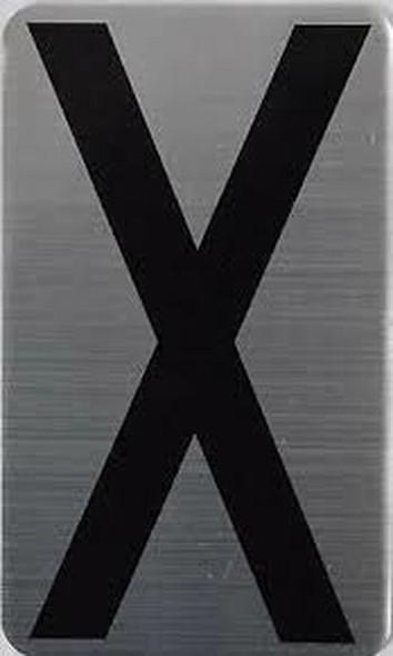 House Number Letter Sigpartment Number Letter - Letter X