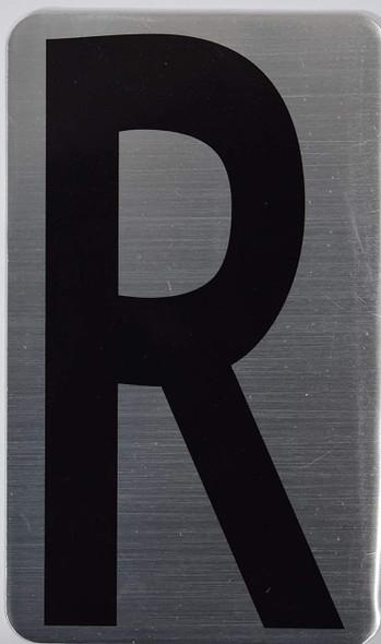 House Number Letter  Signage/Apartment Number Letter  Signage- Letter R