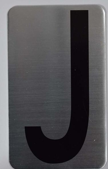 House Number Letter  Signage/Apartment Number Letter  Signage- Letter J