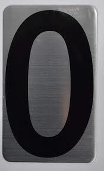 House Number Letter  Signage/Apartment Number Letter  Signage- Letter O