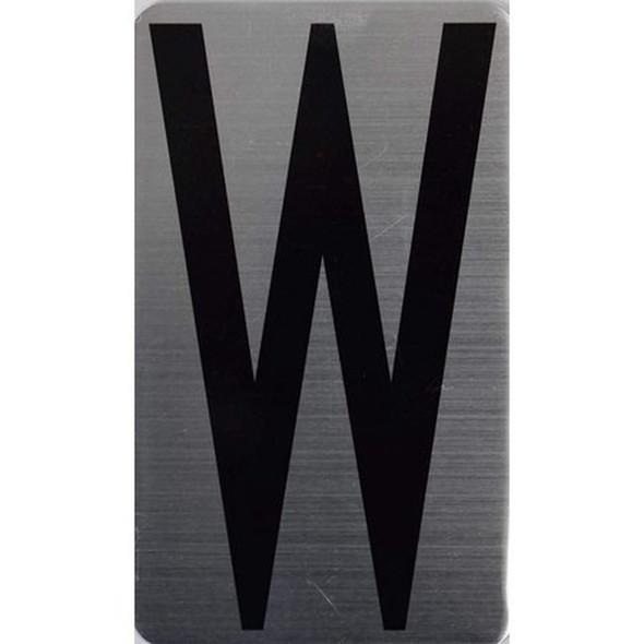 House Number Letter Sigpartment Number Letter - Letter W