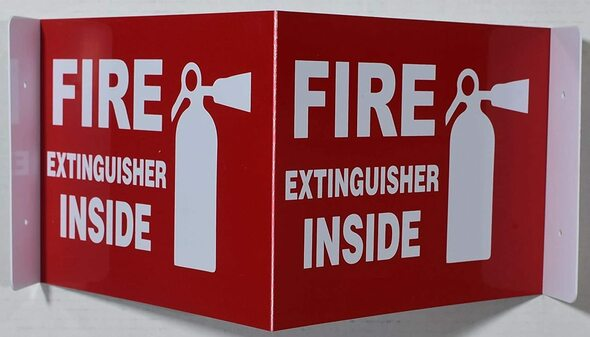 Fire Extinguisher Inside  3D Projection /Fire Extinguisher Inside  Hallway