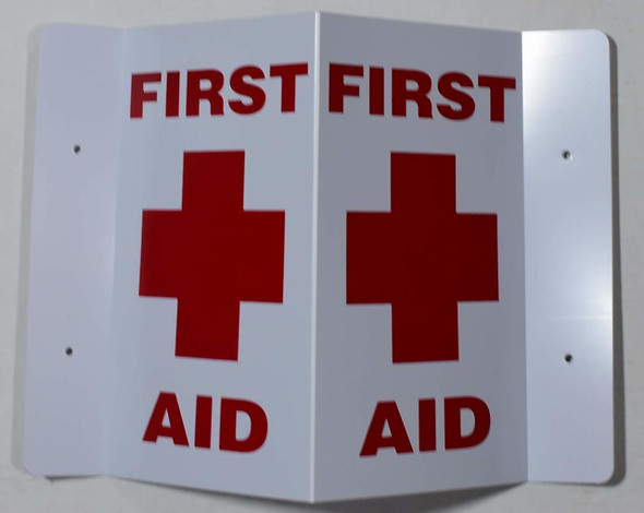 First AID 3D Projection  Signage/FIRE Hose Hallway  Signage