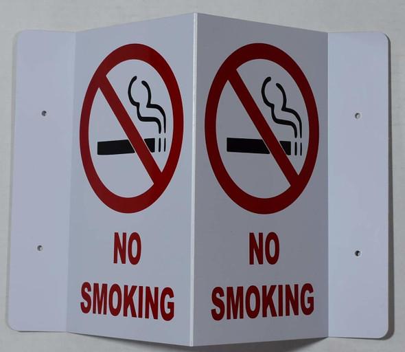 NO Smoking 3D Projection  Signage/FIRE Extinguisher Hallway  Signage