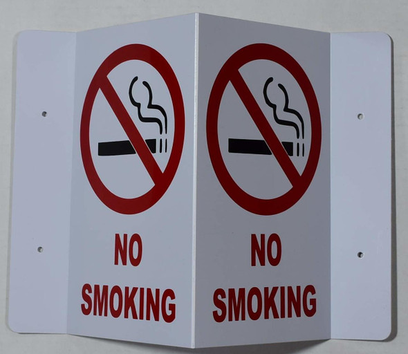 NO Smoking 3D Projection /FIRE Extinguisher Hallway