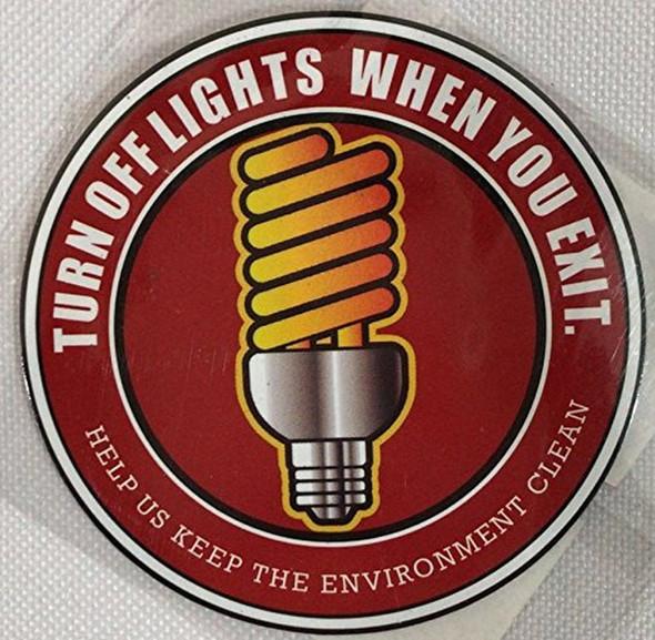 TURN OFF LIGHTS  SignageS