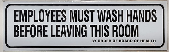 Employees Must Wash Hands  Signage