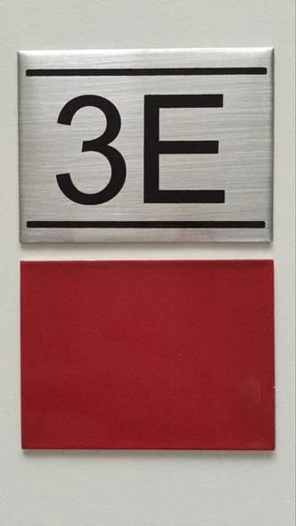 APARTMENT NUMBER sinage -3E -sinage