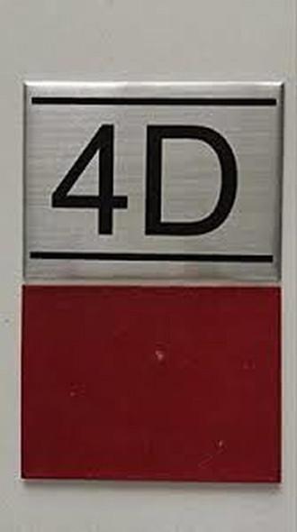 APARTMENT NUMBER  -4D