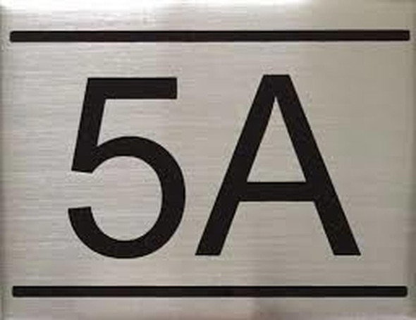 APARTMENT NUMBER  Signage -5A