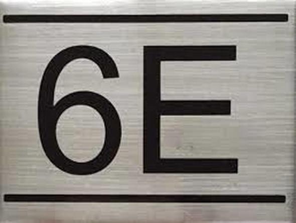 APARTMENT NUMBER  Signage -6E