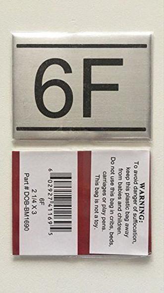 APARTMENT NUMBER  -6F