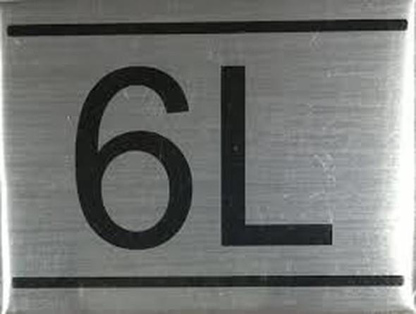 APARTMENT NUMBER  Signage -6L