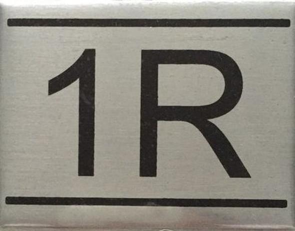 APARTMENT NUMBER  Signage -1R