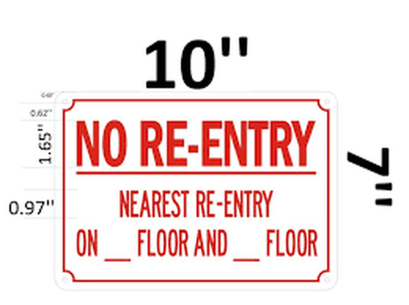 NO RE-Entry ON This Floor