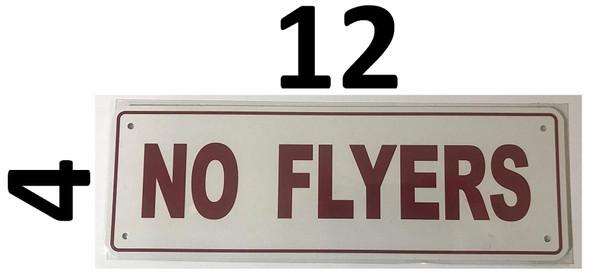NO FLYERS