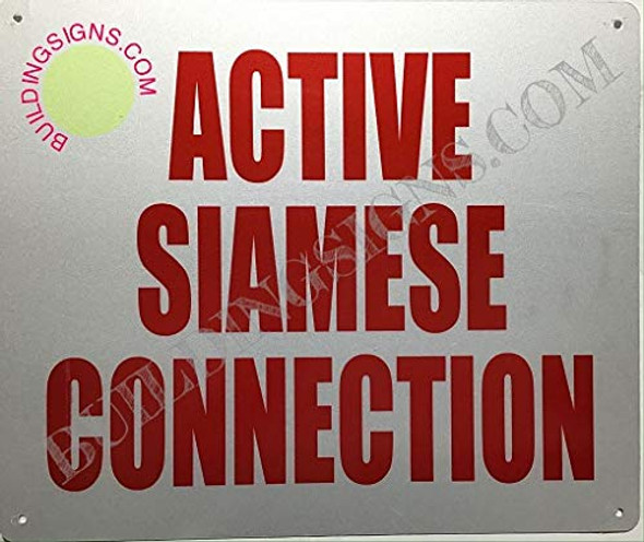 Active Siamese Connection  Signage