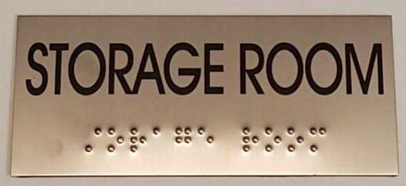 STORAGE ROOM  - BRAILLE-STAINLESS STEEL