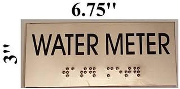 WATER METER  - BRAILLE-STAINLESS STEEL