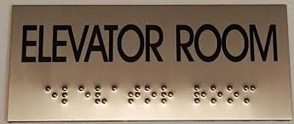 ELEVATOR ROOM  Signage- BRAILLE-STAINLESS STEEL