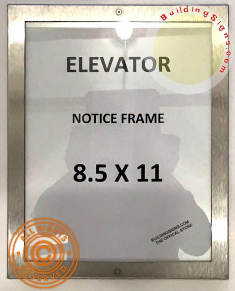 HPD-Elevator Notice Frame