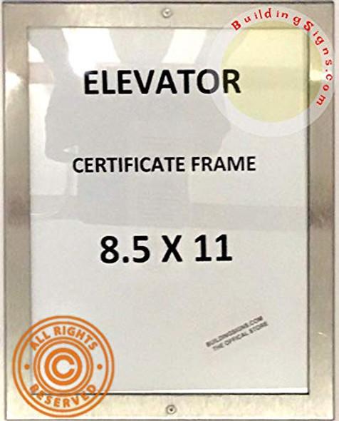 Elevator Permit Frame Lockable Frames
