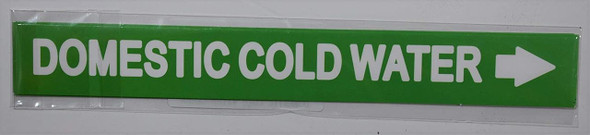 Set of 5 PCS - Pipe Marking-Domestic Cold  Signage