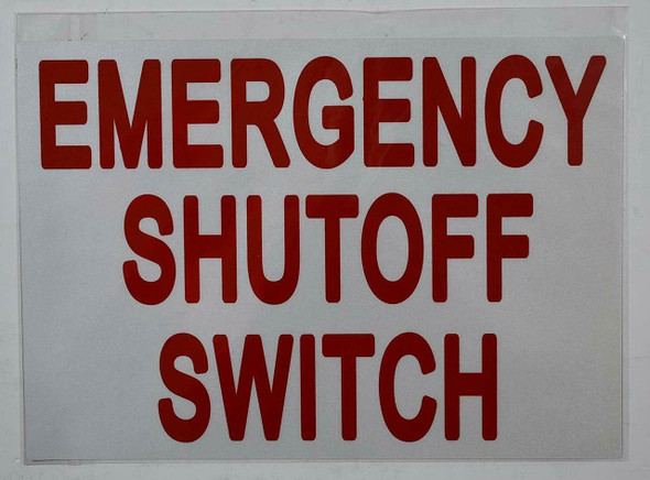 Emergency Shut-Off Switch Sticker Signage