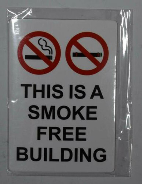 4 PCS -This is A Smoke Free Building Sticker Signage