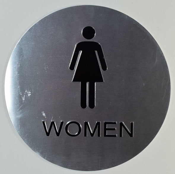 CA ADA Women ACCESSIBLE Restroom  Signage