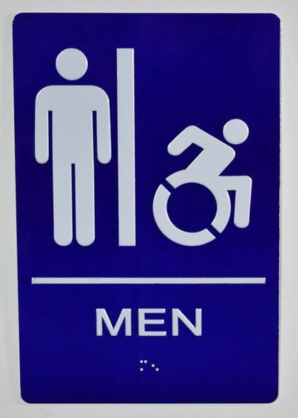 CA ADA Men Restroom accessible