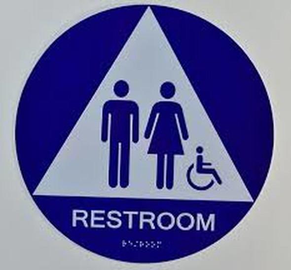 Unisex ACCESSIBLE Restroom CA 128-ADA Signage